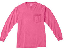 Pigment Dyed Long Sleeve Tee - pink