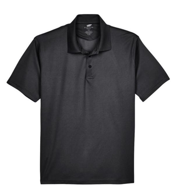 Adult Medium Black Performance Polos