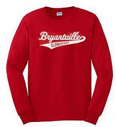 Red Long Sleeve Bryantville Tee
